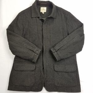 Tommy Bahama Zip Up Tweed Jacket Coat